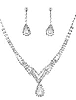 cheap -Women's Drop Jewelry Set 1 Necklace / Earrings - Classic / Elegant / Sweet Silver Bridal Jewelry Sets For Wedding / Party
