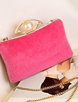 cheap -Women's Bags Evening Bag Pearl Detailing for Wedding Event / Party All Seasons White Black Gray Fuchsia