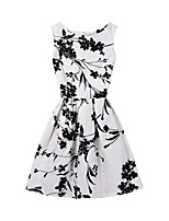 cheap -Girl's Daily Holiday Print Dress, Cotton Polyester Summer Sleeveless Cute Active Black