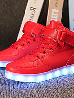 cheap -Girls' Boys' Shoes PU Summer Fall Light Up Shoes Sneakers LED for Wedding Casual Gold White Black Silver Red