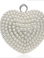 preiswerte -Damen Taschen Polyester Abendtasche Perlen Verzierung für Veranstaltung / Fest Schwarz / Silber