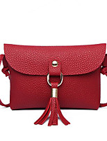 cheap -Women's Bags Shoulder Bag Tassel for Casual All Seasons White Black Red Blushing Pink