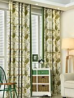 preiswerte -Vorhänge drapiert Wohnzimmer Blumen Zeitgenössisch Baumwolle / Polyester Bedruckt