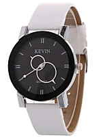 cheap -Women's Quartz Fashion Watch Chinese Large Dial PU Band Minimalist Fashion Black White Brown