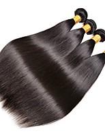 preiswerte -Peruanisches Haar Glatt Menschenhaar spinnt / Echthaar Haarverlängerungen 4 Bündel Menschliches Haar Webarten extention / Schlussverkauf