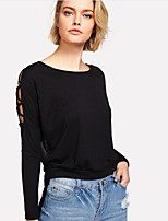 cheap -Women's Basic Cotton T-shirt - Solid Colored