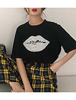 voordelige -Dames Standaard Print T-shirt Geometrisch