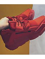 Недорогие -Муж. обувь Дерматин Весна / Осень Удобная обувь Кеды Черный / Красный / Черно-белый