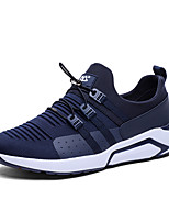 cheap -Men's Shoes Tulle / Leatherette Fall / Winter Comfort Sneakers Walking Shoes Black / Blue