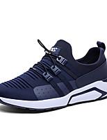 preiswerte -Herrn Schuhe Tüll / Kunstleder Herbst / Winter Komfort Sneakers Walking Schwarz / Blau