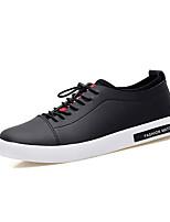 abordables -Homme Chaussures Polyuréthane Printemps / Automne Confort Basket Blanc / Noir