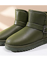 cheap -Women's Shoes PU Fall Winter Snow Boots Comfort Boots Flat Heel Booties / Ankle Boots for Casual Black Gray Army Green