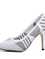 abordables -Femme Chaussures Tricot Printemps / Eté Confort / Escarpin Basique Chaussures à Talons Talon Aiguille Blanc / Noir