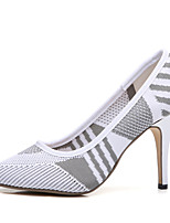 cheap -Women's Shoes Knit Spring / Summer Comfort / Basic Pump Heels Stiletto Heel White / Black