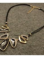 abordables -Cristal Pendentif de collier  -  Elégant Gris 45 cm Colliers Tendance Pour Mariage, Soirée