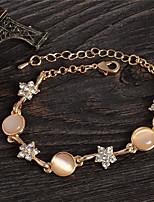 cheap -Women's Flower Bracelet - Sweet Circle Gold Bracelet For Party Gift