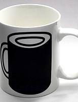 abordables -Drinkware Porcelaine Tasse Sensible à la chaleur couleur changeante Athermiques 1pcs