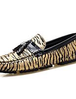 abordables -Homme Chaussures PU de microfibre synthétique Printemps / Automne Moccasin Basket Or / Argent