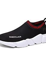 Недорогие -Муж. обувь Ткань Весна Лето Удобная обувь Мокасины и Свитер для Повседневные на открытом воздухе Черный Красный