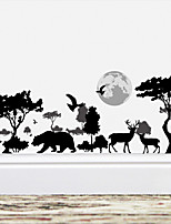 cheap -Wall Decal Decorative Wall Stickers - Plane Wall Stickers Animals Floral / Botanical Re-Positionable Removable