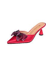 cheap -Women's Shoes Fabric / PU(Polyurethane) Summer / Fall Comfort / Slingback Heels Walking Shoes Cone Heel Pointed Toe / Closed Toe Bowknot