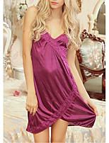 abordables -Costumes Vêtement de nuit Femme - Dentelle Ouvert, Couleur Pleine
