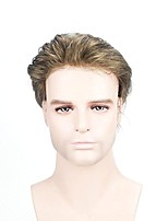 cheap -Men's Human Hair Toupees Full Lace 100% Hand Tied