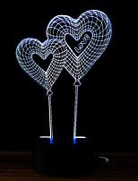 preiswerte -3D Nachtlicht Wechsel USB Stress und Angst Relief Dekoration Sicherheit Kreativ Farbwechsel DC 5V 3D