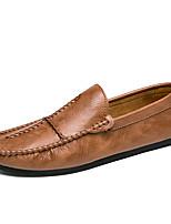 Недорогие -Муж. обувь Дерматин Материал на заказ клиента Весна Осень Удобная обувь Мокасины и Свитер для Повседневные Для вечеринки / ужина Белый