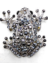 cheap -Women's Duck Brooches - Metallic Silver / Black Brooch For Party