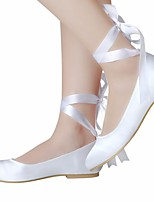 cheap -Women's Shoes Silk Spring Fall Ballerina Comfort Wedding Shoes Low Heel for Wedding White Ivory