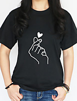 preiswerte -Damen Geometrisch - Street Schick T-shirt