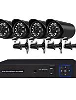 Недорогие -4 ch система безопасности с 4ch 1080n ahd dvr 4pcs 2.0mp атмосферостойкие камеры с ночным видением
