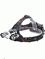 cheap -Headlamps LED 2400 lm 4 Mode LED with Charger Impact Resistant Rechargeable Waterproof Camping/Hiking/Caving Everyday Use Cycling/Bike