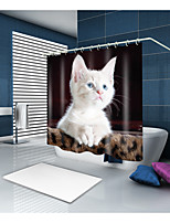 cheap -Shower Curtains & Hooks Contemporary Modern Polyester Animal Novelty Machine Made Waterproof Bathroom