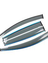 cheap -4pcs Car Deflectors & Shields Transparent Paste Type For Car Window For Volkswagen Bora 2018 / 2017 / 2016