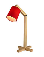 cheap -Artistic Decorative Table Lamp For Wood / Bamboo White Black Red