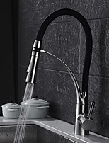 cheap -Kitchen faucet - Contemporary Standing Style Nickel Brushed Pull-out / ­Pull-down Vessel