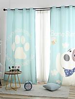 baratos -Cortinas cortinas Sala de Estar Desenho Animado Algodão / Poliéster Estampado