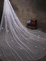 abordables -Une couche Style moderne A Fleurs Accessoires Bord en dentelle énorme Mariée Princesse Européen Dentelle Mariage Voiles de Mariée Voiles