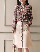 abordables -Femme Basique Chemise - Géométrique, Imprimé Jupe