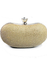 cheap -Women's Bags Terylene Evening Bag Crystals for Event / Party Gold / Silver