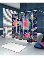 cheap -Shower Curtains & Hooks Neoclassical Country Polyester Animal Novelty Machine Made Waterproof Bathroom
