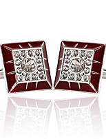 cheap -Geometric Silver Cufflinks Alloy Fashion European Wedding Formal Men's Costume Jewelry