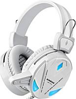 cheap -KINBAS Wired Headphones For PC Headphones PU Leather 1pcs unit USB 2.0
