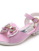 cheap -Girls' Shoes PU Summer Flower Girl Shoes Comfort Sandals for Casual Purple Peach Pink