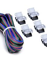 baratos -ZDM® 1pç 5050 SMD Conversor Acessório Light Strip Conector elétrico Plástico para luz de tira conduzida do RGB