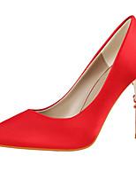 abordables -Mujer Zapatos Seda Primavera / Otoño Gladiador / Pump Básico Tacones Tacón Stiletto Dedo Puntiagudo Verde / Azul / Rosa / Fiesta y Noche