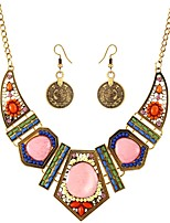 cheap -Women's Rhinestone Bohemian Oversized Jewelry Set 1 Necklace Earrings - Bohemian Oversized Jewelry Set For Evening Party Bar