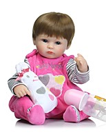 cheap -NPKCOLLECTION Reborn Doll Baby Girl 16 inch Full Body Silicone / Silicone - Hand Applied Eyelashes, Tipped and Sealed Nails, Floppy Head Kid's Unisex Gift / Natural Skin Tone